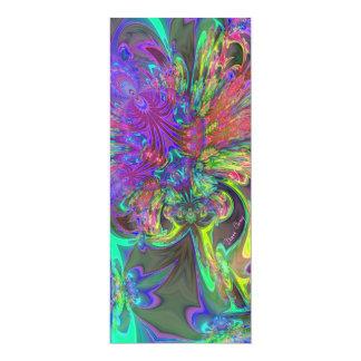 Glowing Burst of Color – Teal & Violet Deva Card