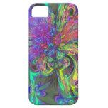 Glowing Burst of Color – Teal & Violet Deva iPhone 5 Covers