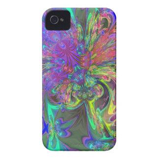 Glowing Burst of Color – Teal & Violet Deva iPhone 4 Case