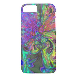 Glowing Burst of Color – Teal & Violet Deva iPhone 8/7 Case