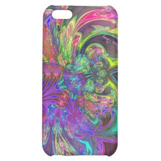 Glowing Burst of Color – Teal & Violet Deva iPhone 5C Cases