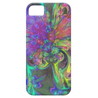 Glowing Burst of Color – Teal & Violet Deva iPhone SE/5/5s Case