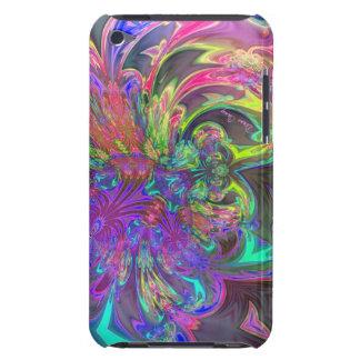 Glowing Burst of Color – Teal & Violet Deva iPod Touch Case