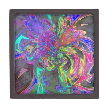 Glowing Burst of Color – Teal & Violet Deva Keepsake Box