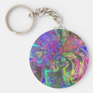 Glowing Burst of Color – Teal & Violet Deva Keychain