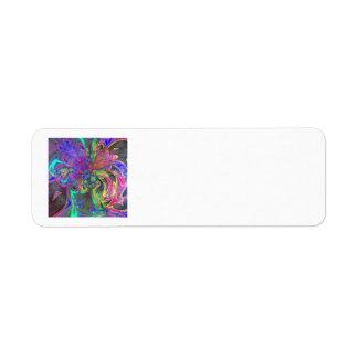 Glowing Burst of Color – Teal & Violet Deva Label