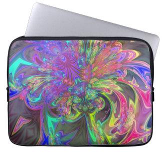 Glowing Burst of Color – Teal & Violet Deva Laptop Sleeve