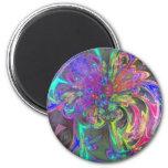 Glowing Burst of Color – Teal & Violet Deva Fridge Magnets