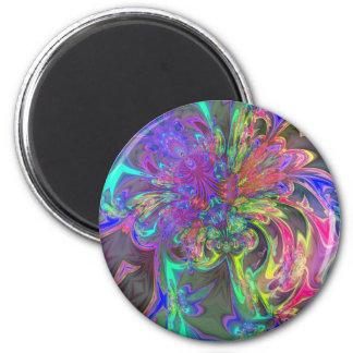 Glowing Burst of Color – Teal & Violet Deva Magnet