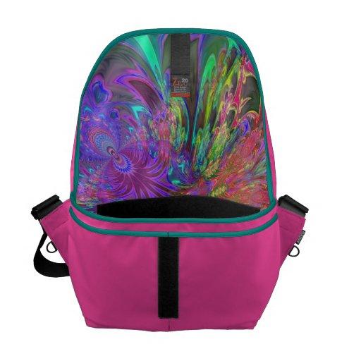 Glowing Burst of Color – Teal & Violet Deva Commuter Bags