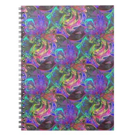 Glowing Burst of Color – Teal & Violet Deva Notebook