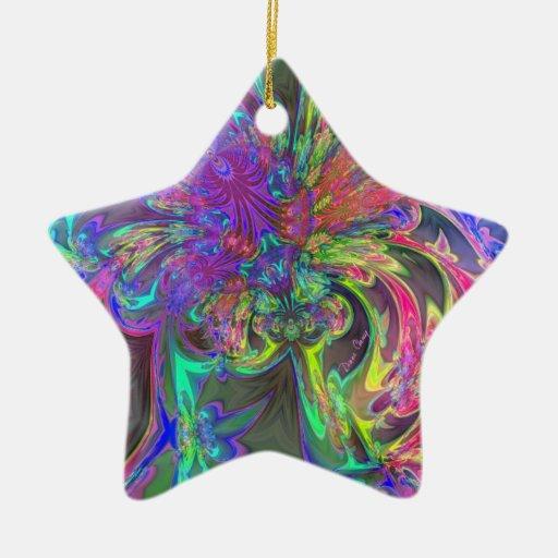 Glowing Burst of Color – Teal & Violet Deva Christmas Ornament