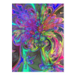 Glowing Burst of Color – Teal & Violet Deva Postcards