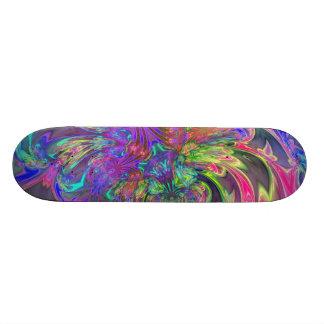 Glowing Burst of Color – Teal & Violet Deva Skateboard Deck