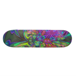 Glowing Burst of Color – Teal & Violet Deva Skateboard Deck