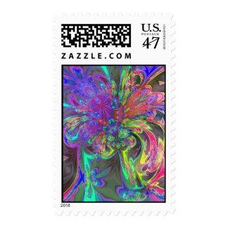 Glowing Burst of Color – Teal & Violet Deva Stamp