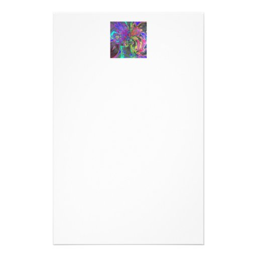 Glowing Burst of Color – Teal & Violet Deva Custom Stationery