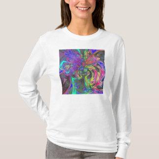 Glowing Burst of Color – Teal & Violet Deva T-Shirt