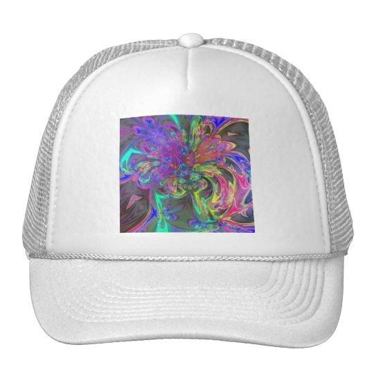 Glowing Burst of Color – Teal & Violet Deva Trucker Hat