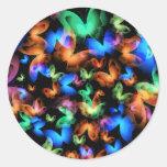 Glowing Butterflies Stickers