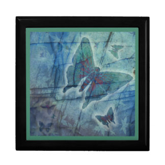 Glowing Butterfly Framed Tile Gift or Keepsake Box