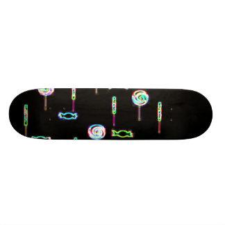 glowing candies skateboard deck
