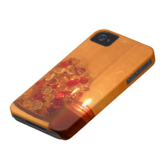 Glowing Candle and Marbles Barely There iPhone Cas iPhone 4 Case-Mate Case