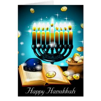 Glowing Candles Hanukkah Cherish Blessings Card