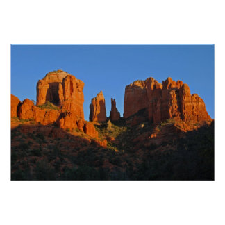 Glowing Cathedral Rock 1513 Poster