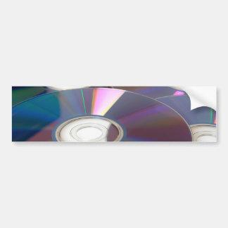 Glowing CD Bumper Sticker
