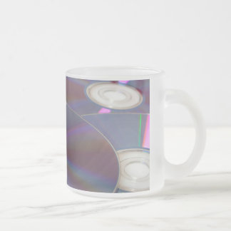 Glowing CD Frosted Glass Coffee Mug