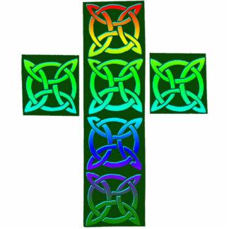 Glowing Celtic Cross Statuette