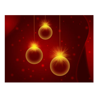 Glowing Christmas Ornaments with Snowflakes Postcard