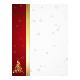 Glowing Christmas Tree - Letterhead Stationery