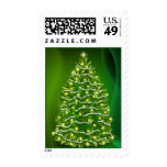 Glowing Christmas tree postage Postage Stamps
