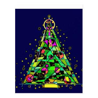 Glowing Christmas Tree. Postcard