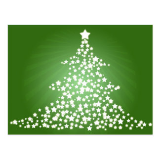 Glowing Christmas Tree Postcard
