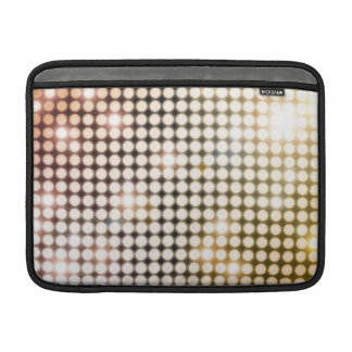 Glowing Circles Abstract Macbook Sleeve (golds)