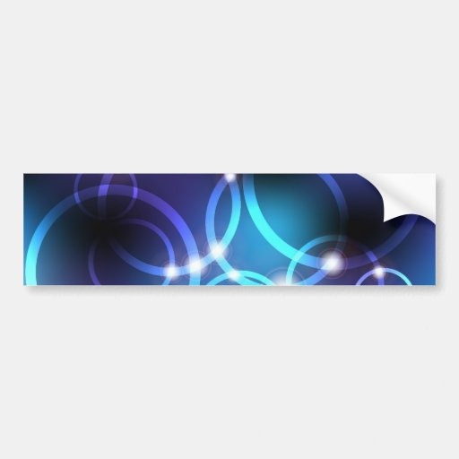 Glowing Circles Bumper Stickers