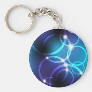 Glowing Circles Key Chain