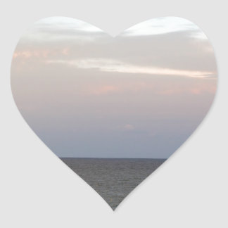 Glowing clouds over the Adriatic Sea in Italy. Heart Sticker