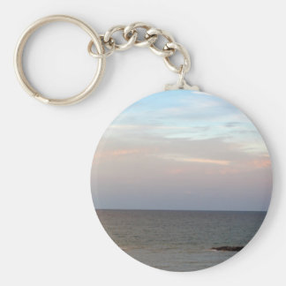 Glowing clouds over the Adriatic Sea in Italy. Keychain
