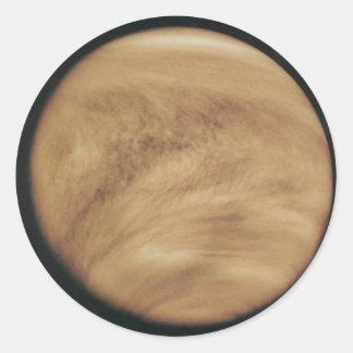 Glowing Clouds Venus Classic Round Sticker