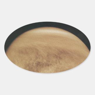 Glowing Clouds Venus Oval Sticker
