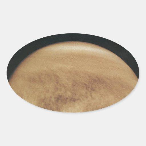 Glowing Clouds Venus Oval Stickers