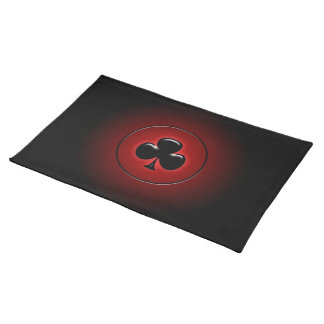 Glowing club card suit cloth placemat