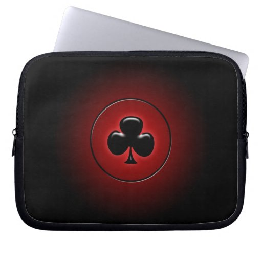 Glowing club card suit laptop sleeve