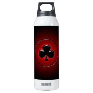 Glowing club card suit 16 oz insulated SIGG thermos water bottle