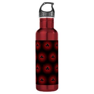 Glowing clubs seamless pattern 24oz water bottle