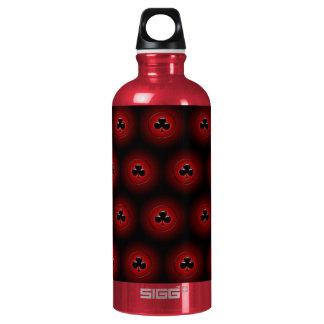 Glowing clubs seamless pattern SIGG traveler 0.6L water bottle